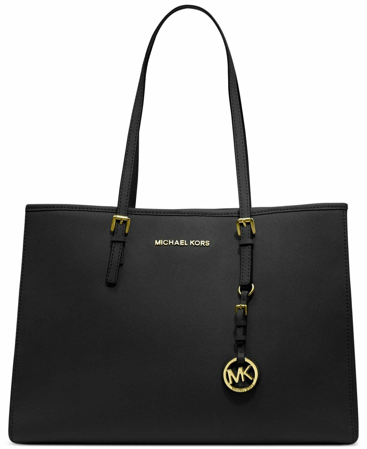 bc02210c77cc ... wholesale upc 887042722523 product image for michael kors jet travel  saffiano leather tote black upcitemdb. ...