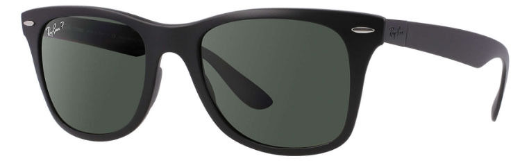 edaeba4e4d7 Ray Ban Wayfarer Liteforce Black Matte Polarized RB4195 601S9A 52-20  711717414553