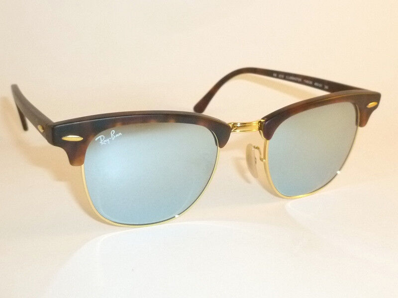 cdfe48df90a Details about New RAY BAN Clubmaster Matte Tortoise RB 3016 1145 30 Silver  Mirror Lenses 51mm