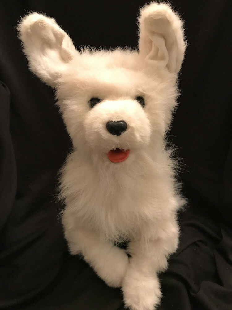 Furreal Friends Scamps My Playful Pup Interactive White Dog Animated