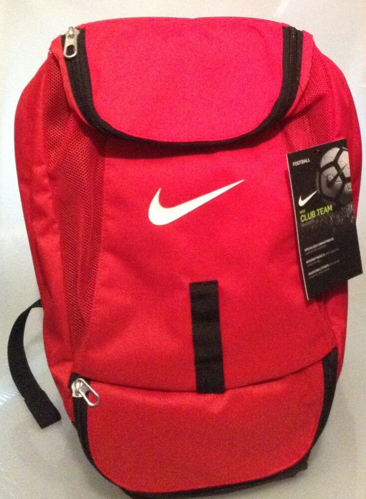 Details about NIKE RED BACKPACK- CLUB TEAM FOOTBALL TRAINING - GYM-TRAVEL-  SCHOOL 01fb1f63bfc2a