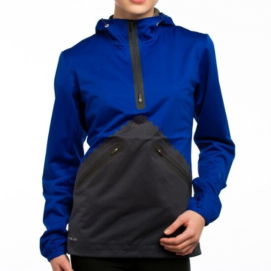 65e4cb802 Details about New NIKE Ladies Womens LASER COOL Storm-Fit Running Jacket  Coats Blue Charcoal S
