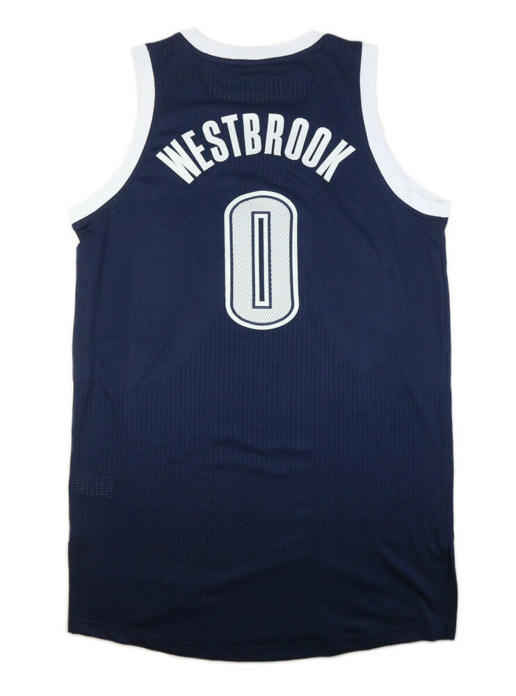 9db3d66fc40 RUSSELL WESTBROOK 2013-14 OKLAHOMA CITY THUNDER ALTERNATE GAME USED JERSEY