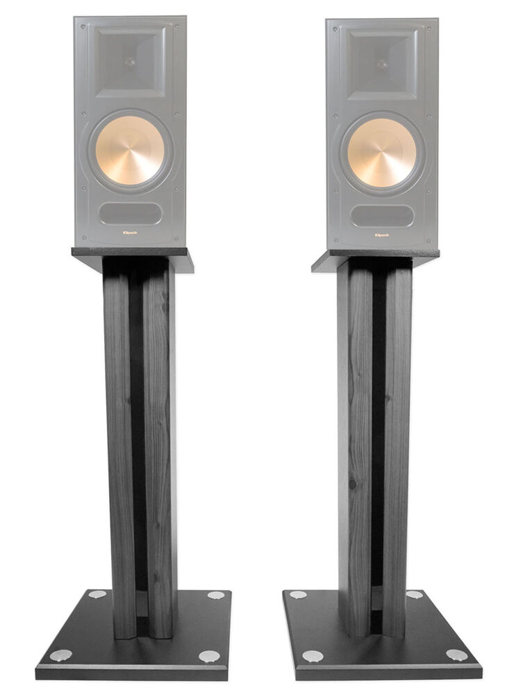Pair 26 Quot Bookshelf Speaker Stands For Pair Klipsch Rb 81 Bookshelf Speakers Ebay