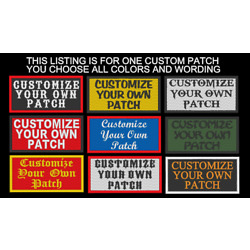 CUSTOM EMBROIDERED PATCH 2 X 4'' EMBROIDERY NAME TAG SAYING BIKER BADGE USA Made