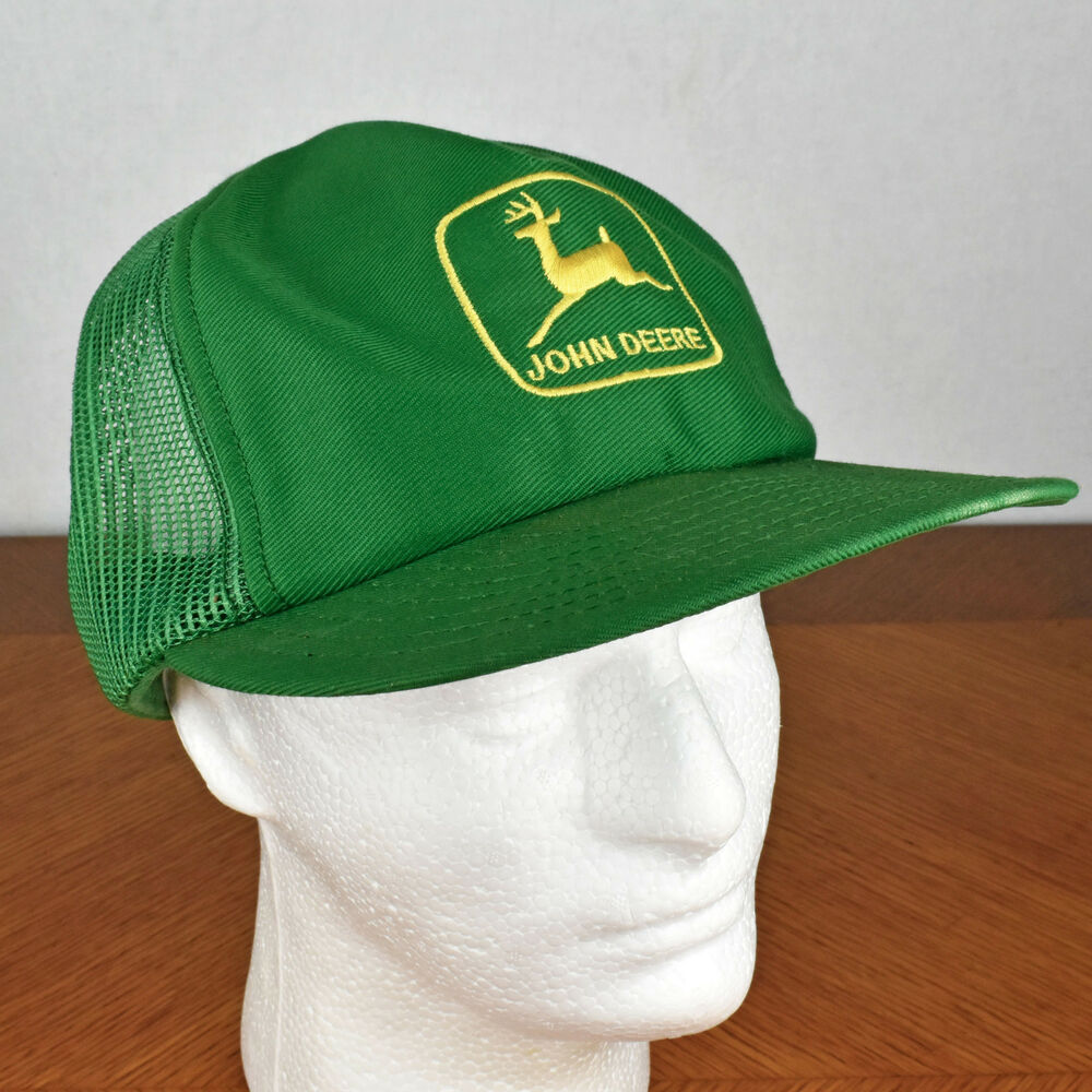 c270415faf8004 Details about Vintage Green John Deere Embroidered Trucker Hat - MADE IN  LOUISVILLE KY USA
