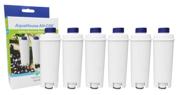 6x Compatilble water filter softener DLS C002, SER3017 for DeLonghi Bean to Cup