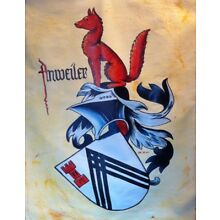 Anweiler Family Crest 10 Stickers