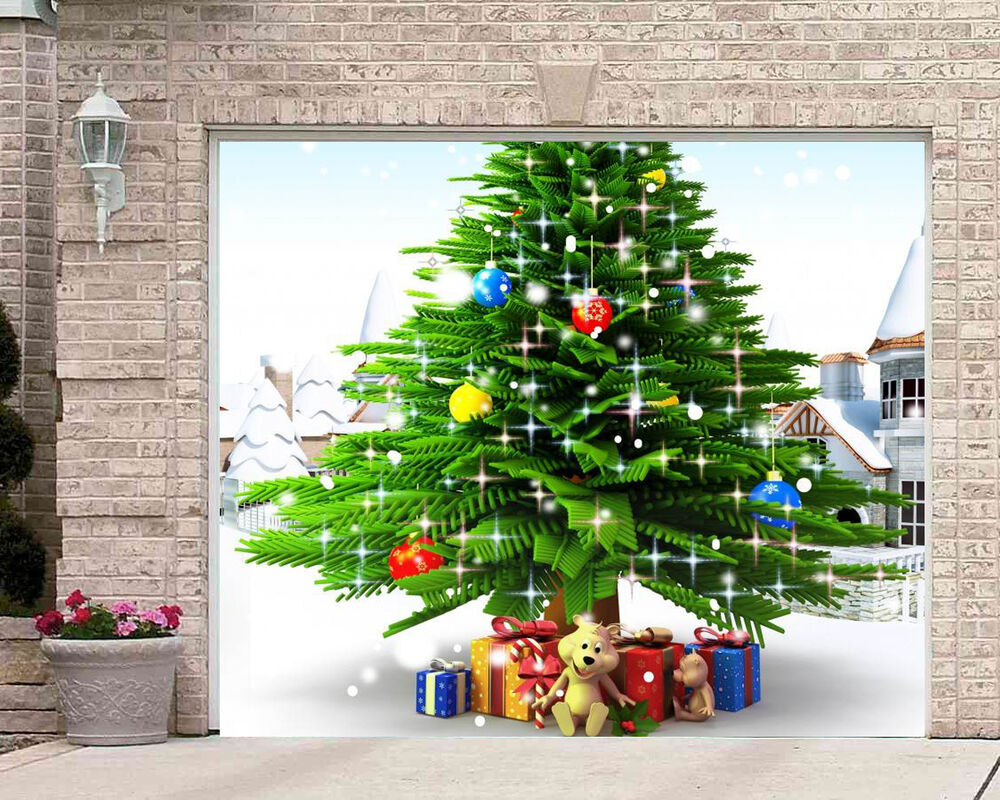 Christmas Garage Door Covers Banners FULL COLOR GARAGE ...