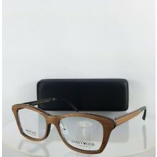 Brand New Authentic Gold & Wood Electra 03 Eyeglasses 52mm Brown Frame