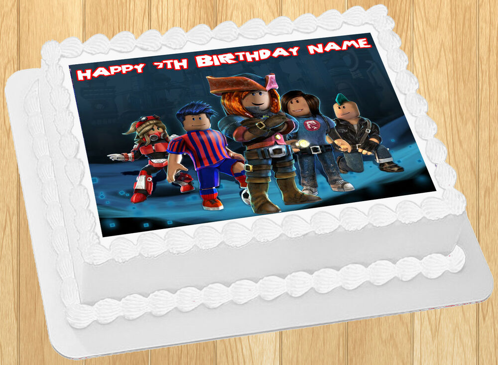 Edible Roblox Image Cake Topper Birthday Party Wafer Paper