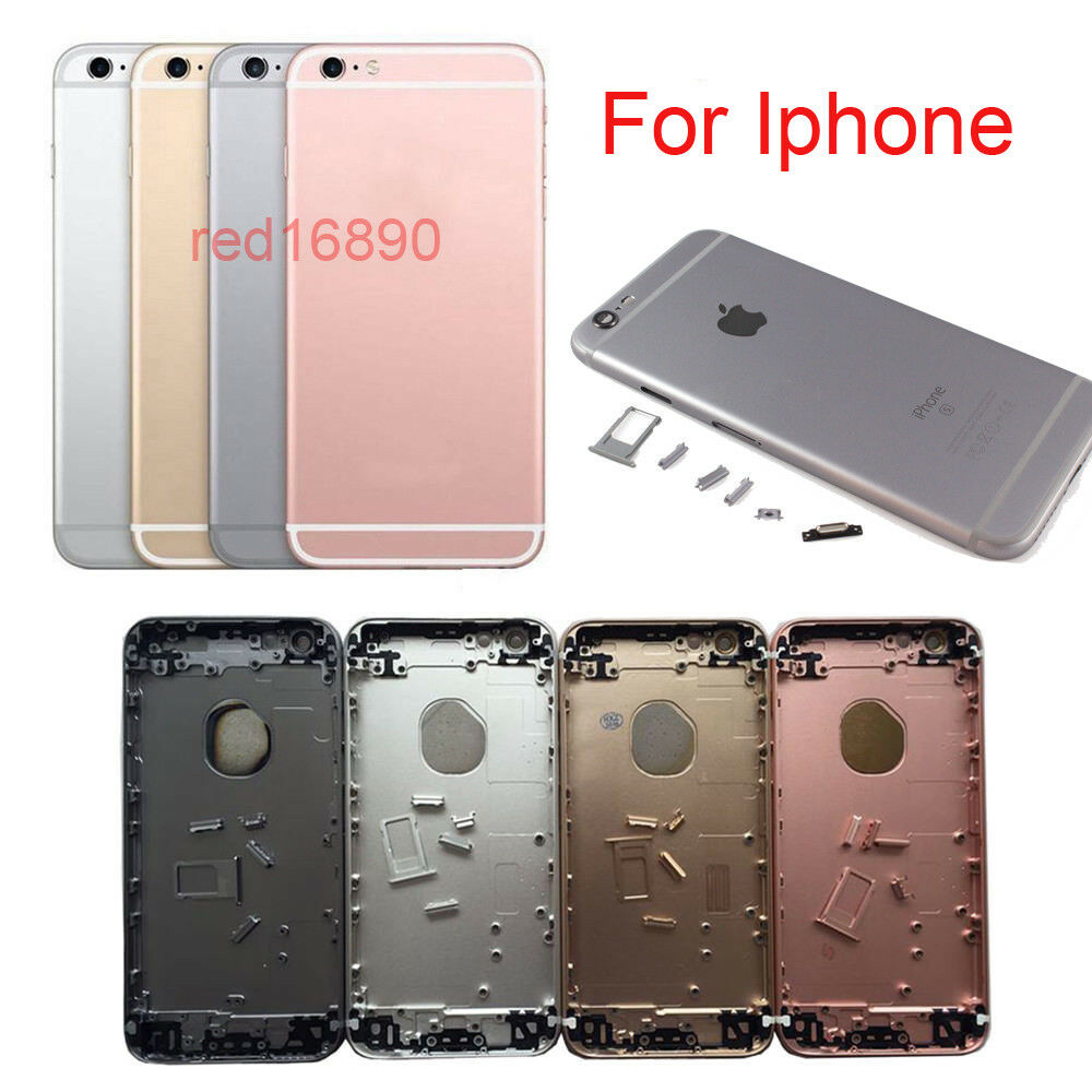 replacement housing back cover mid frame assembly for iphone 6 6s 6 6splus 7 7 ebay. Black Bedroom Furniture Sets. Home Design Ideas