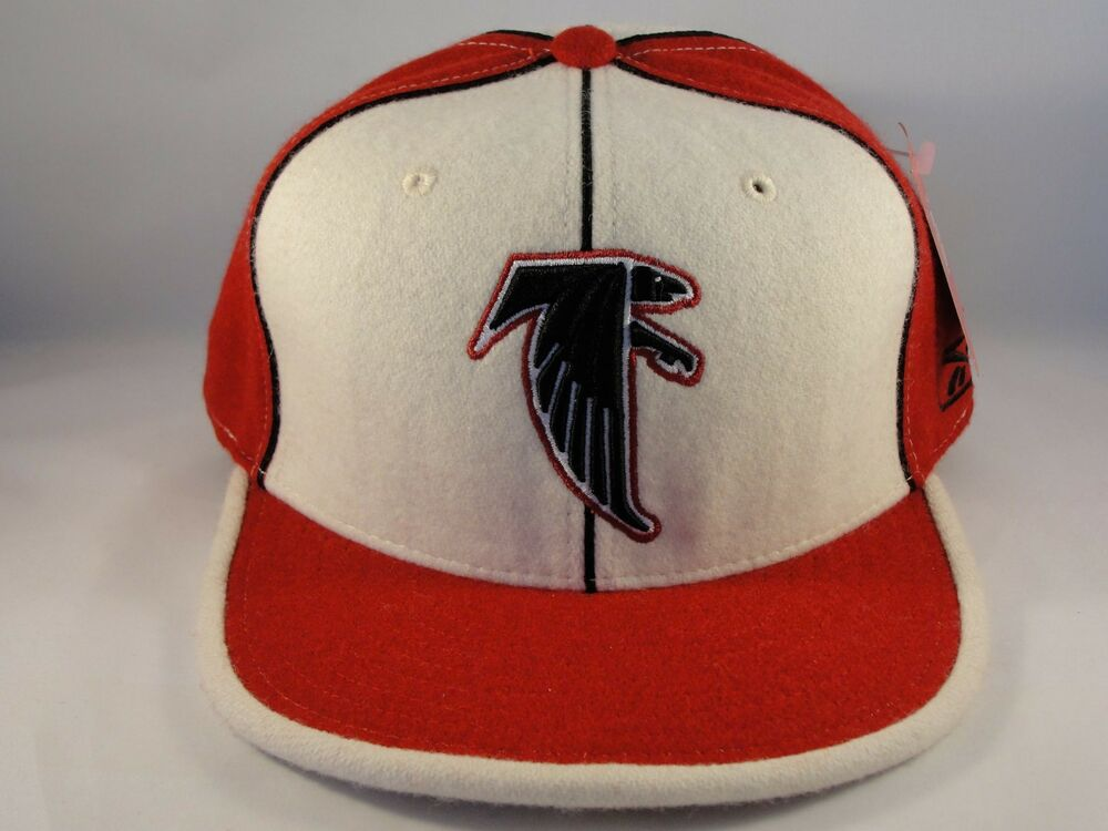 a02f50d7c3e Details about Atlanta Falcons NFL Reebok Fitted Cap Hat Size 7 1 2 Ivory Red