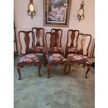 Kling Colonial Queen Anne Style Solid Cherry Dining Side Chair 31-6121