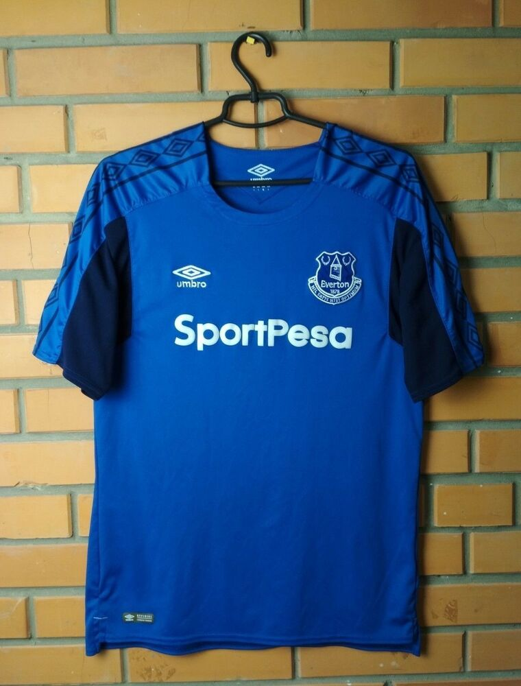 33acac04f Details about Everton Home football shirt 2017 - 2018 Size L jersey soccer  Umbro