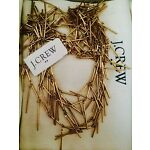 NEW J CREW, NWT, Golden Fringe Necklace, Antique Gold, 100% Authentic With Pouch