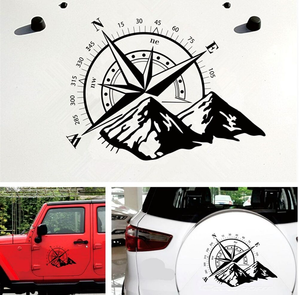 Details about black compass totem car suv hood decal vinyl bonnet sticker waterproof 48x34cm