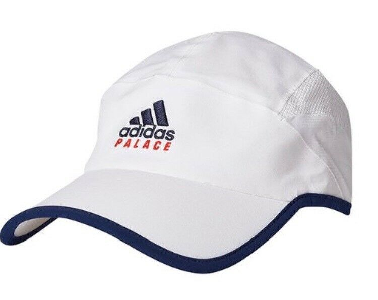 167cacfc941 Details about ADIDAS X PALACE ON COURT WHITE HAT CAP BRAND NEW SEALED IN  BAG SS18