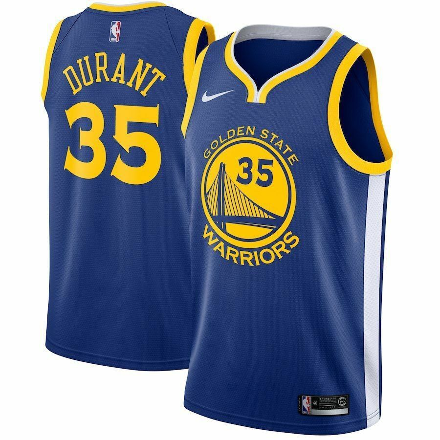 Details about NIKE KEVIN DURANT GOLDEN STATE WARRIORS  35 JERSEY 864475-496  SIZE XL 3d22467fe24