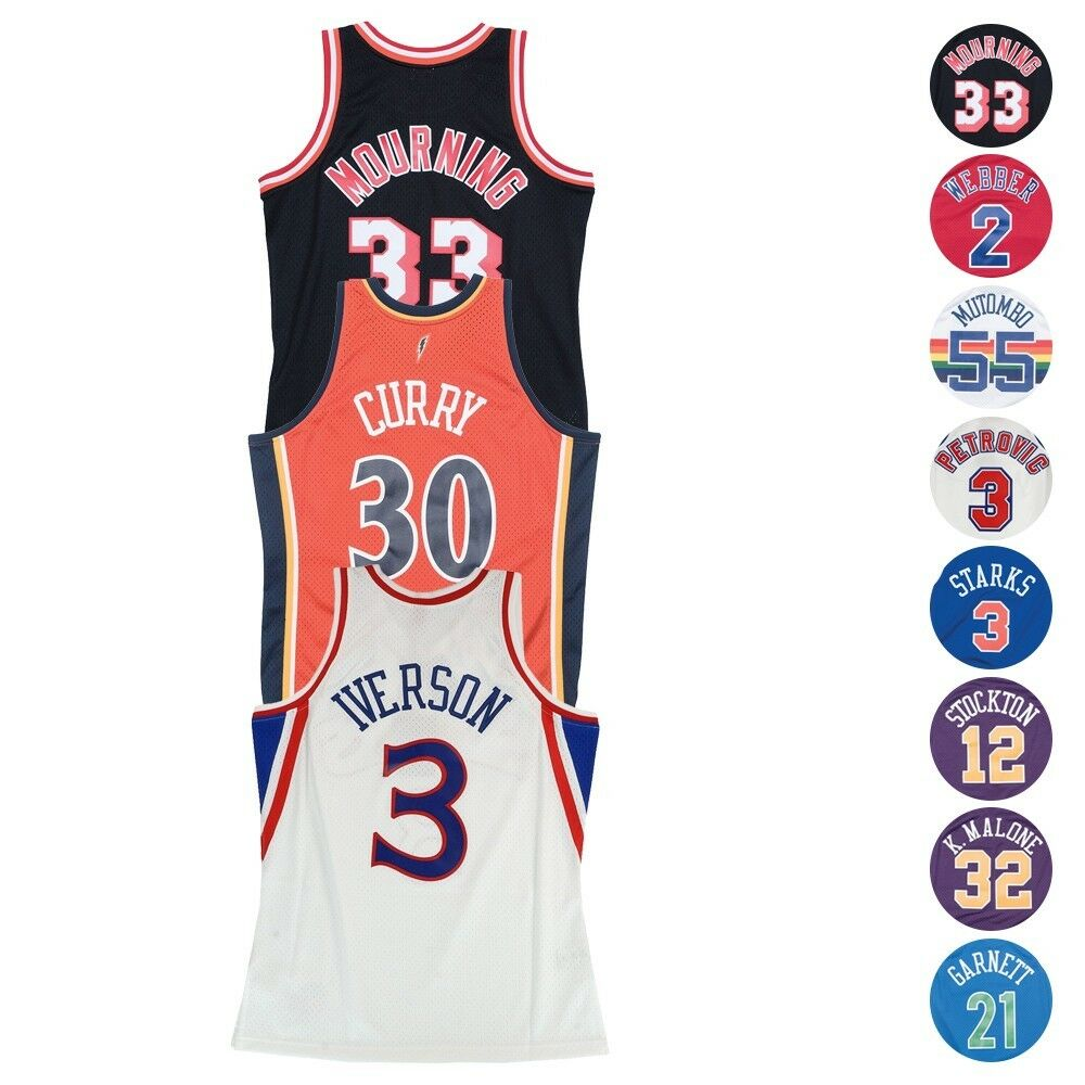 acfd691638db Details about NBA Mitchell   Ness Home Road Alternate Swingman Jersey  Collection Men s