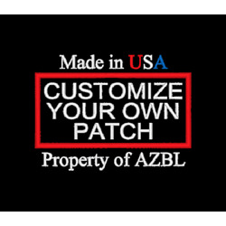 CUSTOM EMBROIDERED PATCH UP TO 3 LINES CUSTOM EMBROIDERY USA Made