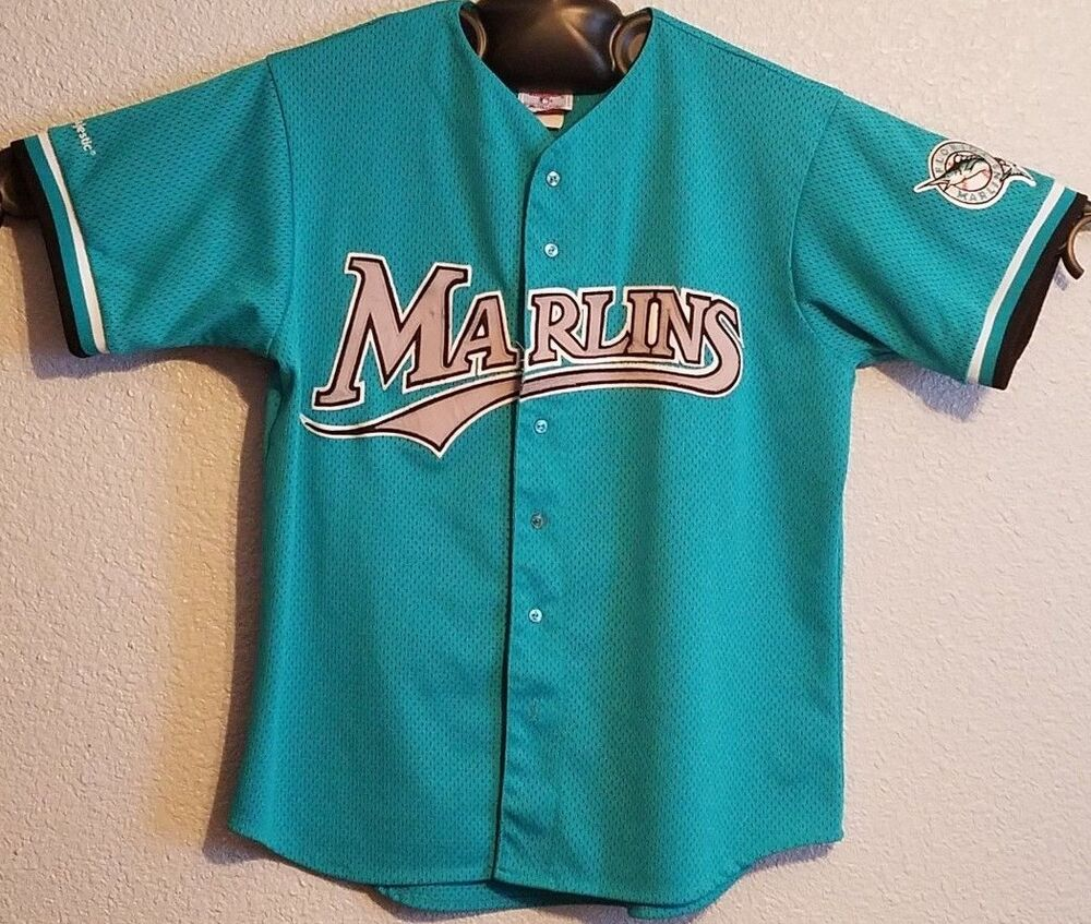 a4be11116bd Details about MLB - VTG 90s AUTHENTIC SEWN MAJESTIC FLORIDA MARLINS  BASEBALL JERSEY - MENS XL