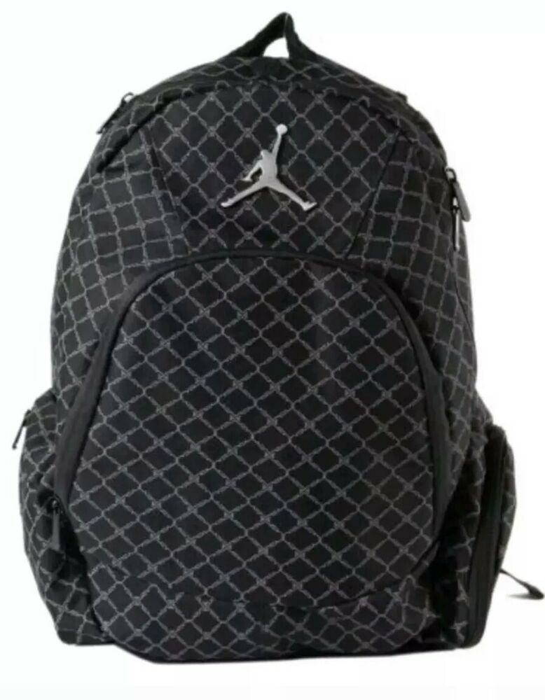 48dca77b34f8 Details about NIKE AIR JORDAN Jumpman 23 Backpack Laptop Sleeve Black  9A1115-023 NEW WITH TAGS