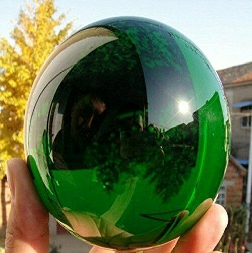 60MM Natural Green Obsidian Sphere Large Crystal Ball Healing Stone