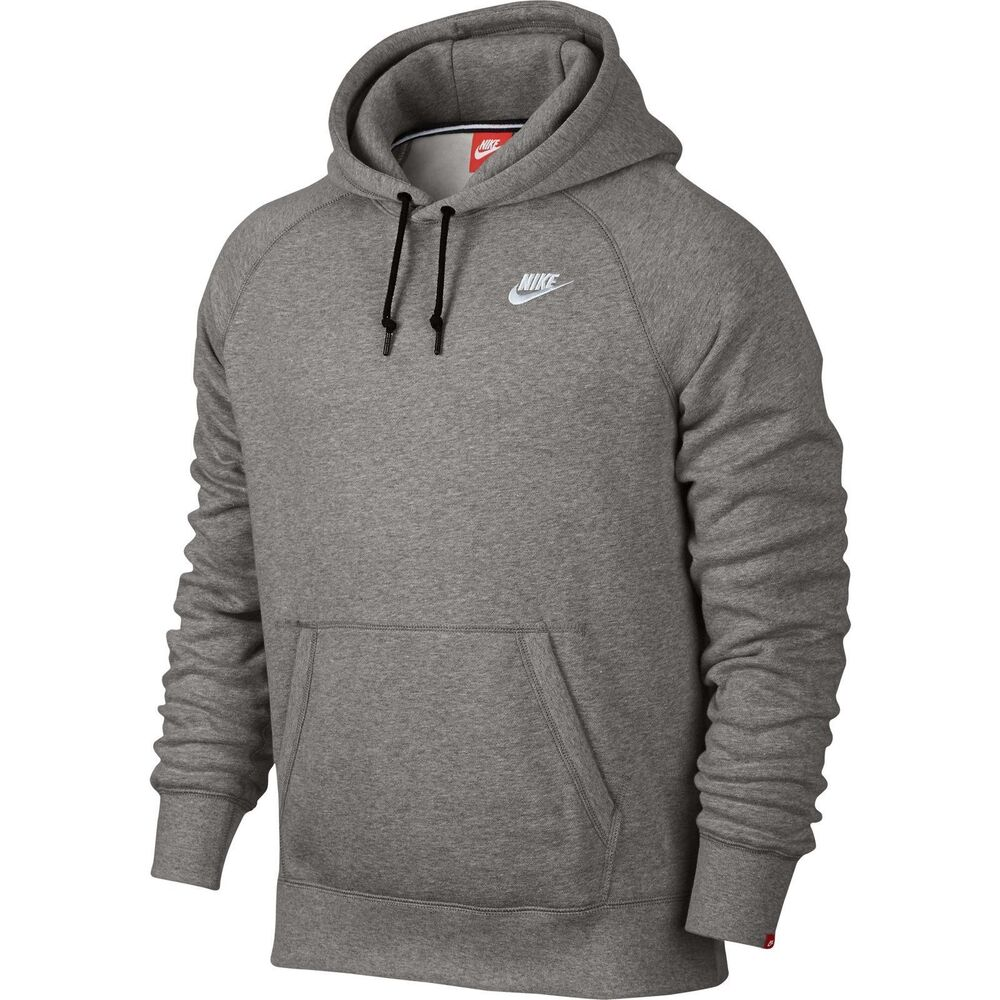 f5522f2d1a10 Details about MEN S NIKE ACE FLEECE PULLOVER HOODIE GRAY 598707 066 SIZE  2XL NWT