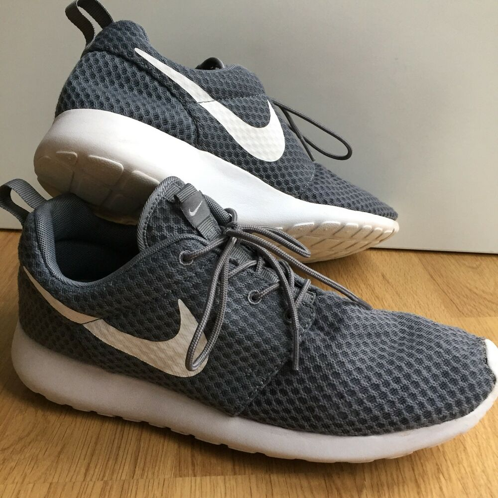 Details about Nike Roshe Run One BR Trainers Cool Grey   White 8.5 43  Running Gym Shoe a46b90613