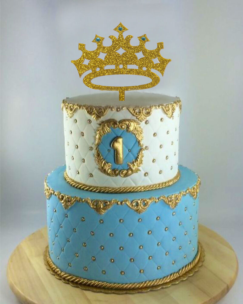Prince Crown Cake Topper, Boy Birthday King, First