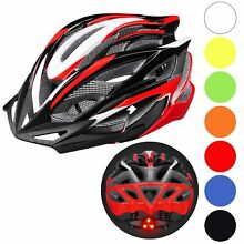 Bicycle Helmet Bike Cycling Adult Adjustable Safety Helmet Visor LED Light Sport