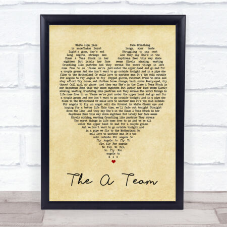img-The A Team Vintage Heart Quote Song Lyric Print
