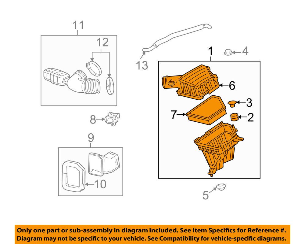 details about chevrolet gm oem 12-15 camaro air cleaner intake-filter box  housing 92240654