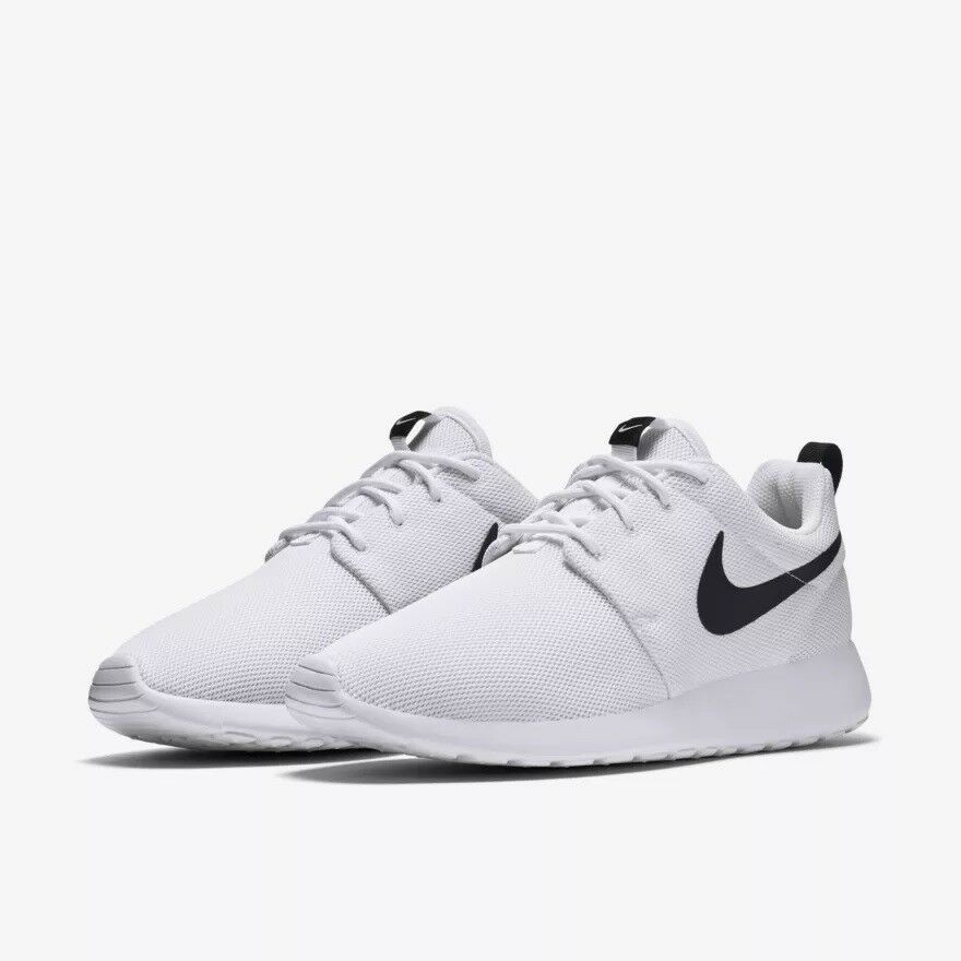 f2fe350ef927 Details about 844994-101 Women s Nike Roshe One Lifestyle Shoes White Black  Sizes 6-10 NIB