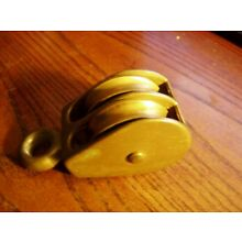 Vintage Solid Bronze  Boat double  Block Pulley  2- 1 7/8
