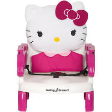 HELLO KITTY PORTABLE HIGH CHAIR TODDLER BOOSTER SEAT TRAY STRAP - USA SELLER