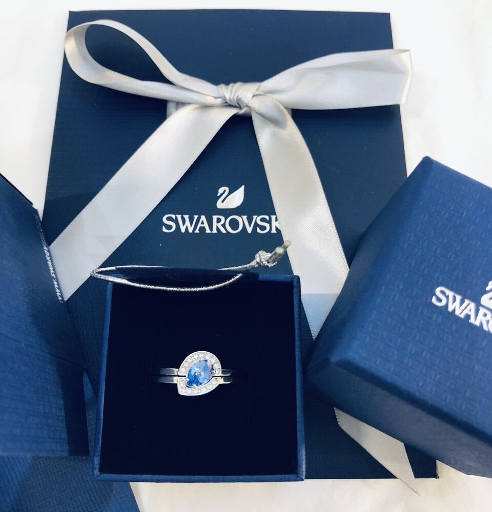 559f723a8a Details about 100% Genuine Swarovski CZLB/CRY/RHS Ring Size50 With Box And Gift  Bag