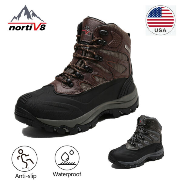 arctiv8 Men 161202-M Insulated Warm Waterproof Hiking Walking Winter Snow Boots