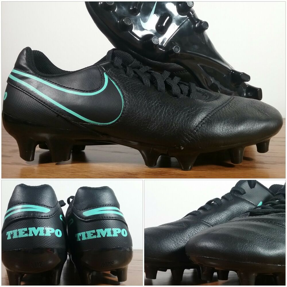 daf5ccf64 Details about New Nike Mens Tiempo Genio II FG Leather Soccer Cleats Black  819213-004 Size 6.5