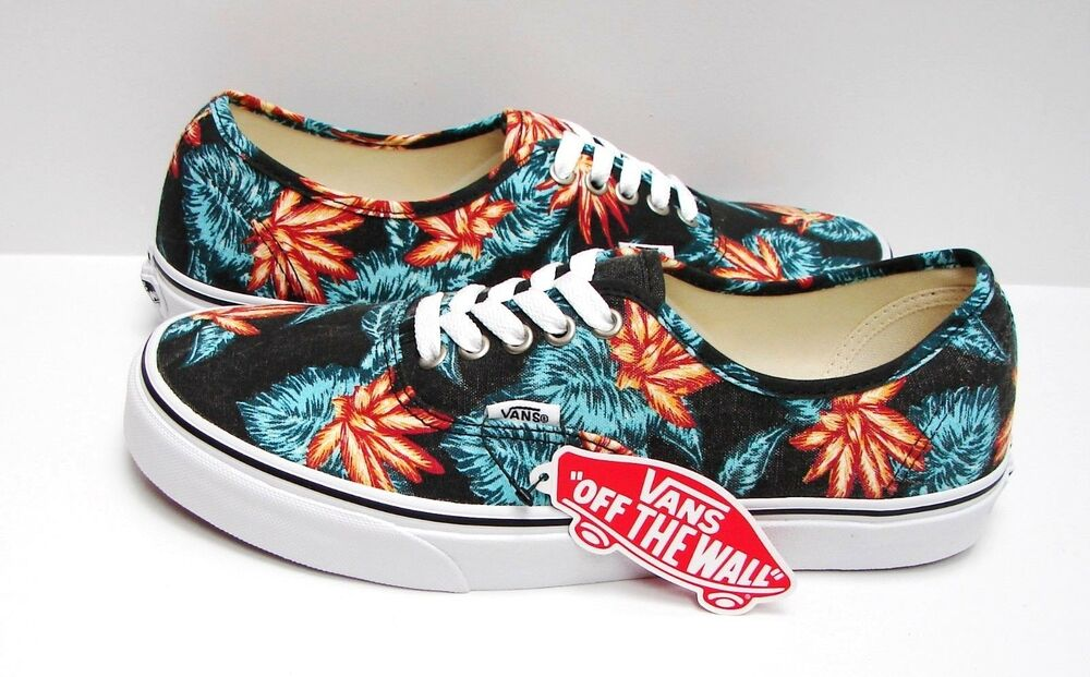 8fa382967d Details about Vans Authentic Vintage Aloha Black True White VN-018BGXN Men s  Size 11