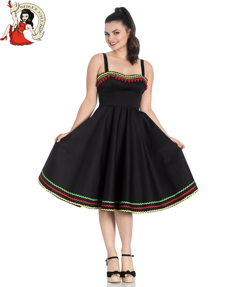 65e56ac6162d Hell bunny marianne mexican summer style black dress ebay jpg 850x1000 Mexican  summer dresses