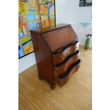 Vintage Mahogany Secretary (Winthrop) Desk Chippendale Style