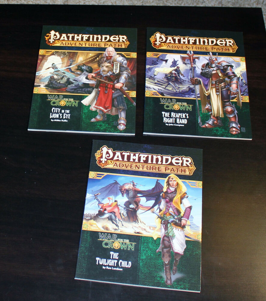 Details about Pathfinder Adventure Path --War of the Crown- 6 modules + Map  Folio