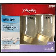 Playtex VentAire Standard 3 Pack Bottles Colic Slow Flow 6 oz Assorted Colors