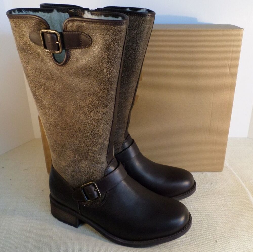 d77a95a7952 UGG 1006679 STT WOMEN'S CHANCERY STOUT LEATHER BOOTS NEW IN BOX | eBay