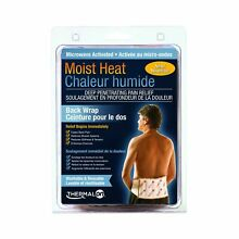 Thermalon Microwave Activated Moist Heat Therapy Wrap with Ties for Back, Hip...