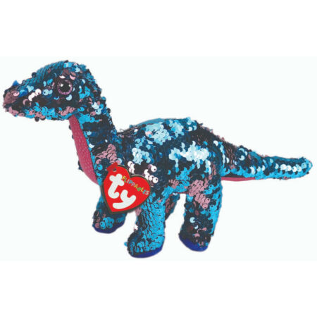 img-TY FLIPPABLES BEANIE 6 INCH TREMOR DINOSAUR NASA SPACEX SOFT TOY NEW WITH TAGS