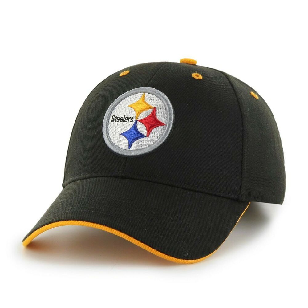 Details about New NFL Pittsburgh Steelers Team Men s Cap Baseball Black Yellow  Hat One Size d7dc9ad146d