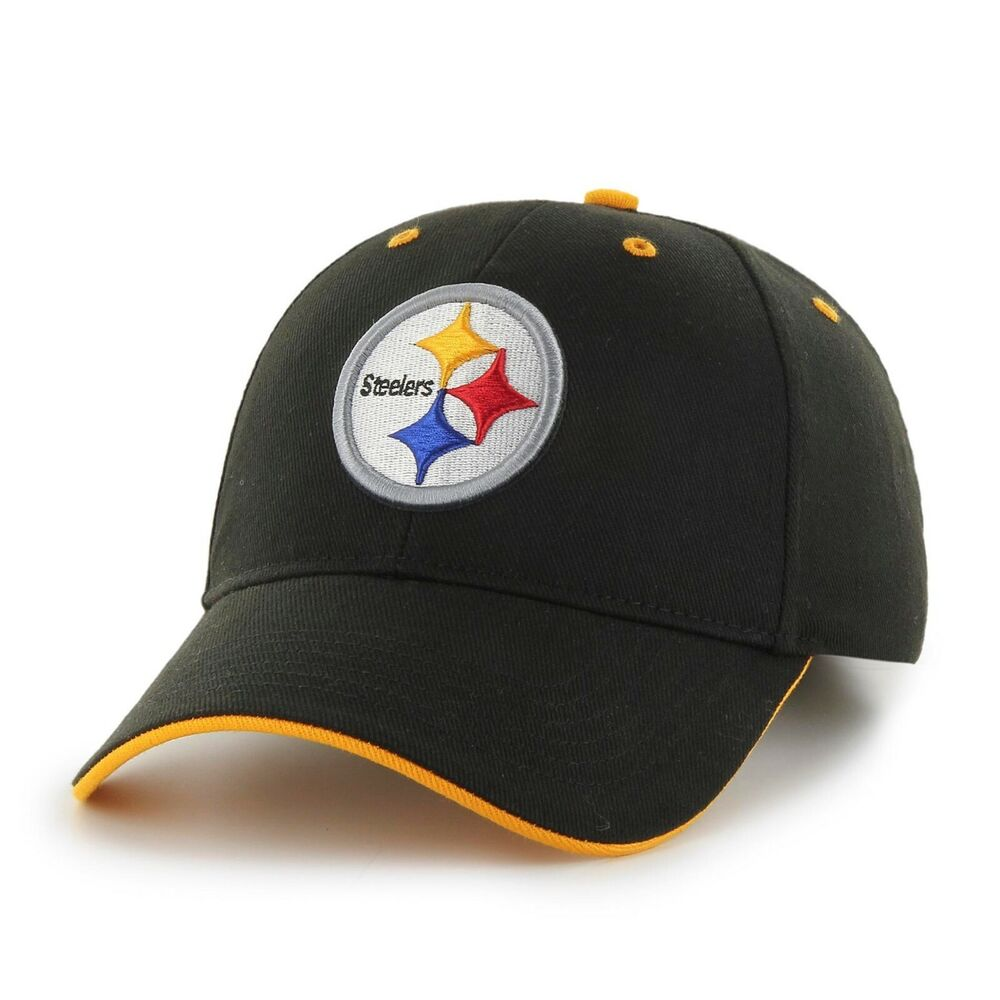 Details about New NFL Pittsburgh Steelers Team Men s Cap Baseball Black Yellow  Hat One Size 7b4de017011